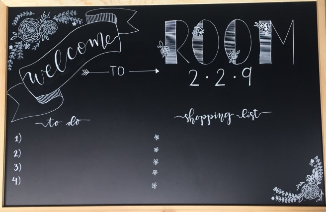 This welcome chalkboard can be utilized in every home!!